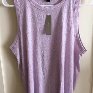 J.Crew tie back sleeveless T shirt Large NEW Lilac